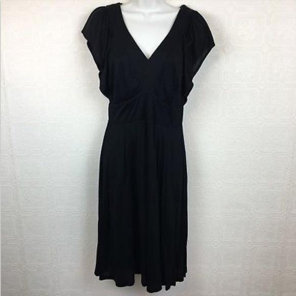 87bf0570a02 Boden Dresses   Skirts - Boden Dress 8 Solid Black Empire Waist V Neck